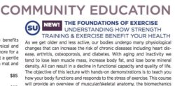Teaching at UCCC – The Foundations of Exercise